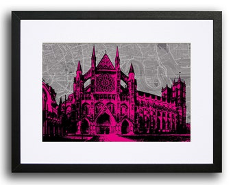 Westminster Abbey, London - Hot Pink
