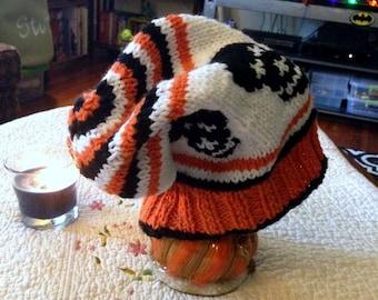 "Fair Isle ""Skull"" Knit Slouch Hat"