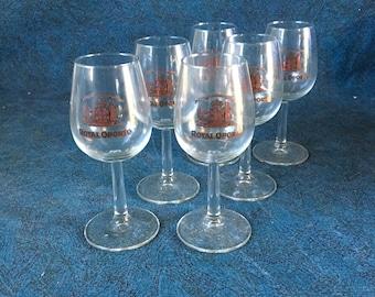 Vintage Royal Oporto Stemmed Wine Cordials, Set of 6