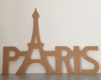 Large Paris Eiffel Tower long 70 cm x H 50 x H 20 cm support painting