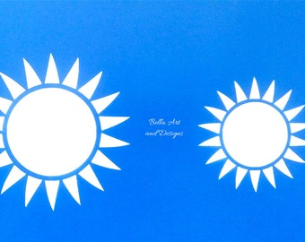Sun stencils (set of 2) *Free gift with every order*