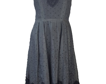PIERRE BALMAIN Black Lace Vintage Dress (S)