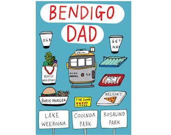 Father's Day Card - Bendigo Dad