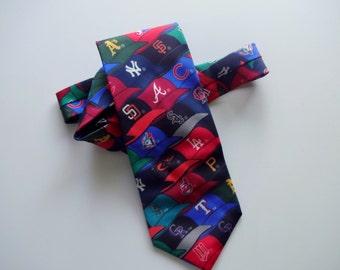 Vintage Major League Baseball Necktie 1995