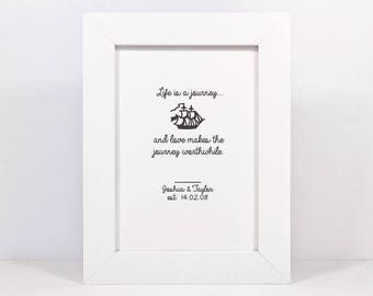 Framed Personalised Love Quote Print   Wedding Gift   Engagement Gift   Love Quote Print   Anniversary Gift   Valentine's Gift   Love Print