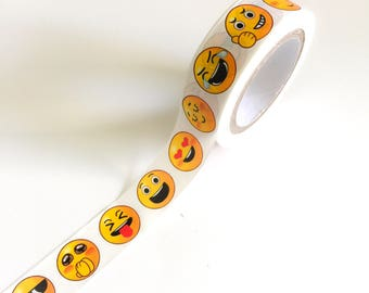 Emoji Crafting Tape Washi Roll SMILE & KISS FACE Emojis Faces kissing laughing hearts kissy smiles tongue Planner Crafts Planners Craft Card