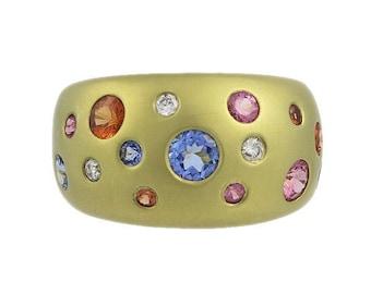 14kt Sapphire & Diamond Ring by Mazza Bartholomew