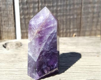 Chevron Banded Amethyst Point #9