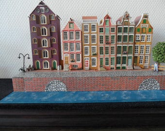 Miniature part of a Canal in Amsterdam