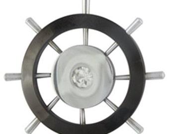 Large ship wheel (STAINLESS STEEL)