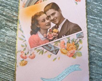 Vintage 1940/40s  Sainte Catherine fancy postcard