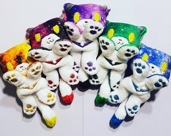 Special Edition Galaxy print Cutie plush Voltron-inspired kitty (Pidge, Keith, Lance, Hunk, Shiro, Allura)  - MADE TO ORDER