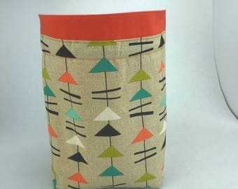 Retro Triangle - Knitting, Crochet or Fiber-work Project Bag
