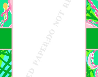 Lilly Pulitzer notepad set (two) personalized- Memo Pad- To Do List