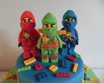 Ninjago Cake Topper Etsy - Imagez co