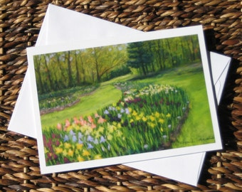 Spring Landscape note cards, set of 8 cards with envelopes