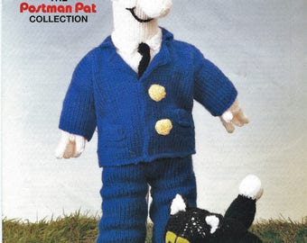 Pdf knitted postman pat and his cat pattern vintage knitting postman pat vintage postman pat knitting pattern instant download pdf knitted soft toy dt1010fo