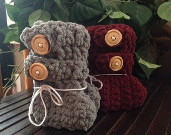 Cozy Button Booties