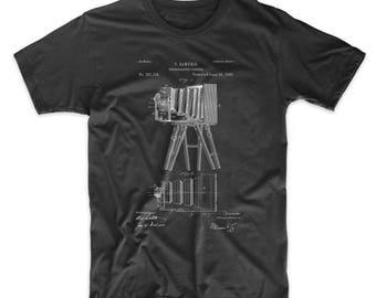 Iconic Photographic Camera 1885 Patent T Shirt, Camera Shirt, Photographer Gift, Photography T-shirts, PP0033