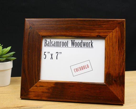 5x7 wood frame, cocobolo frame, recycled wood frame, exotic wood ...