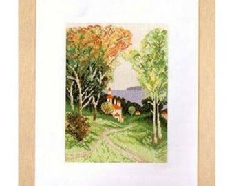 Embroidery Cross Stitch Kit Lanarte - 34990 Country view