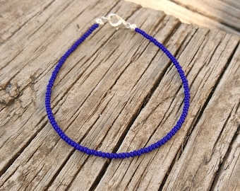 cobalt blue anklet beach surfing lapis deep ocean vacation festival wear