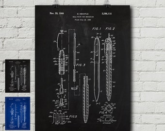 Paper clip patent request print office poster staple ballpoint pen patent request print office poster staple paper clip funny vintage blueprint wall decor wall art cool gift malvernweather Image collections