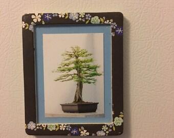 Tree Fridge Magnet Tree Print Magnet Refrigerator Magnet Tree Magnet Kitchen Magnet Art Magnet Framed Magnet Nature Lover Gift