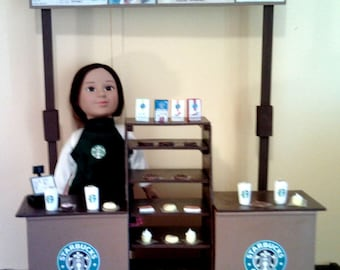 "American Girl, Our Generation, My Life, 18"" Doll Sized Starbucks Restaurant Playset"