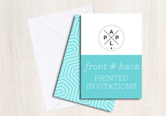 Add on --> Printed Invitations with envelopes to any double sided invitation