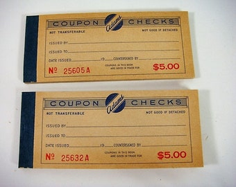 Adams Coupon Checks Company Store Coupons Scrip Coupon Book