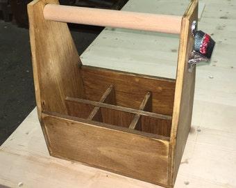 Beer bottle wood box
