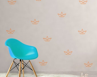 Small boats wall stickers