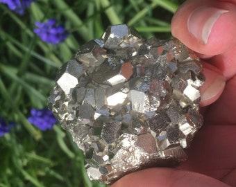 Beautiful Iron Pyrite Cluster
