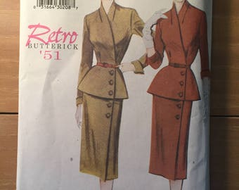 Butterick Reproduction 6241 Retro '51 - NC - Size 20/22/24  - Reproduction pattern / 50s suit pattern / Skirt and Jacket