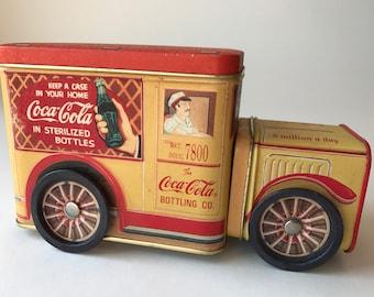 Coca Cola Coke Tin Truck 3pc On Wheels 1995 Vintage Advertising Bottling Co