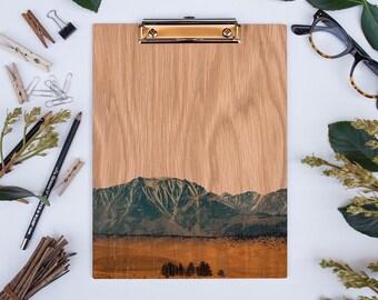 Wood Clipboard, Les Sierras No 5631, Sierra Nevada California Wooden Clipboard