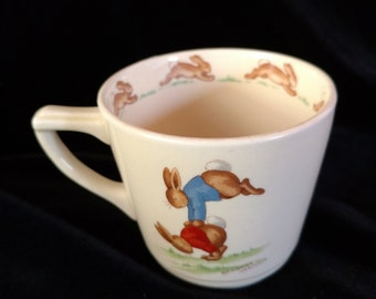 Royal Doulton Bunnykins Child's Cup Signed By  Barbara Vernon