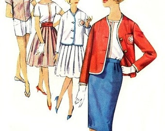 Simplicity 4303 Stepford Wife Overblouse, Jacket, Shorts & 2 Skirts 1960's / SZ12 UNCUT