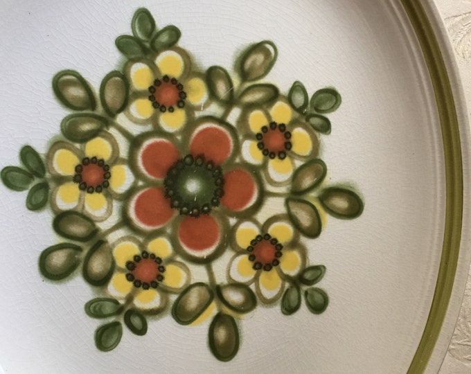 Retro Floral Ironstone Ware Mirage Platter by Myott of Engand