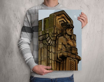 Cleveland Art ! Comic Style Print of Guardian of Transportation, Cleveland print