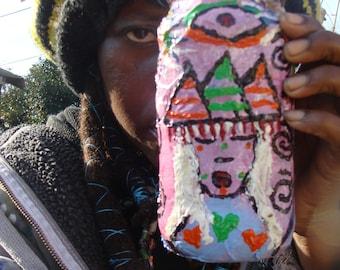 Evil Eye Shaman Stash/Altar Jar Papier Mache