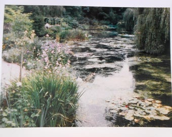 Vintage Photo Reprint of Monet's Garden at Giverny in 1967