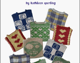 Flip for the Next Feed (eBook, PDF): Reversible baby bib knitting patterns