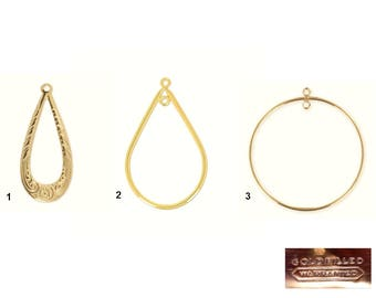 Gold Filled - Pendant Spacer (24,33,35mm) : 1 or 2