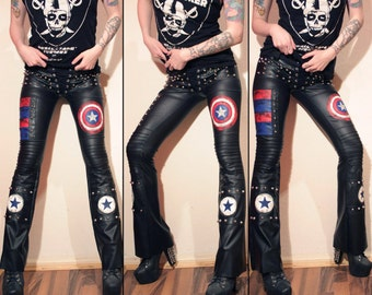 Kissin' Bombs captain america inspired pants