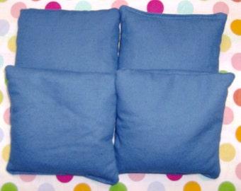 4 PC Set Of Royal Blue Cornhole Game Bags
