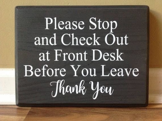 check out sign