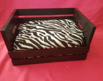 Zebra Crate Pet Bed