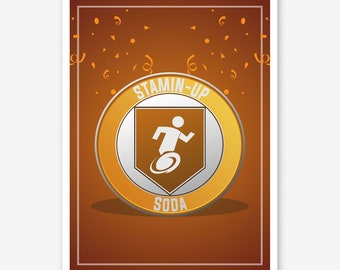 Call of Duty Zombies Stamin Up Perk a Cola - Black Ops 4 Zombies Perk Framed Art Poster